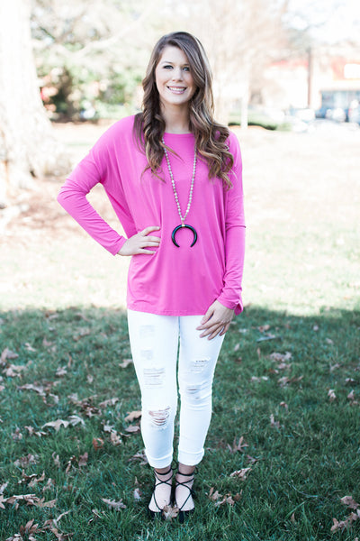 French Rose Long Sleeve Piko