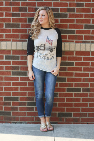Proud To Be An American Baseball Tee