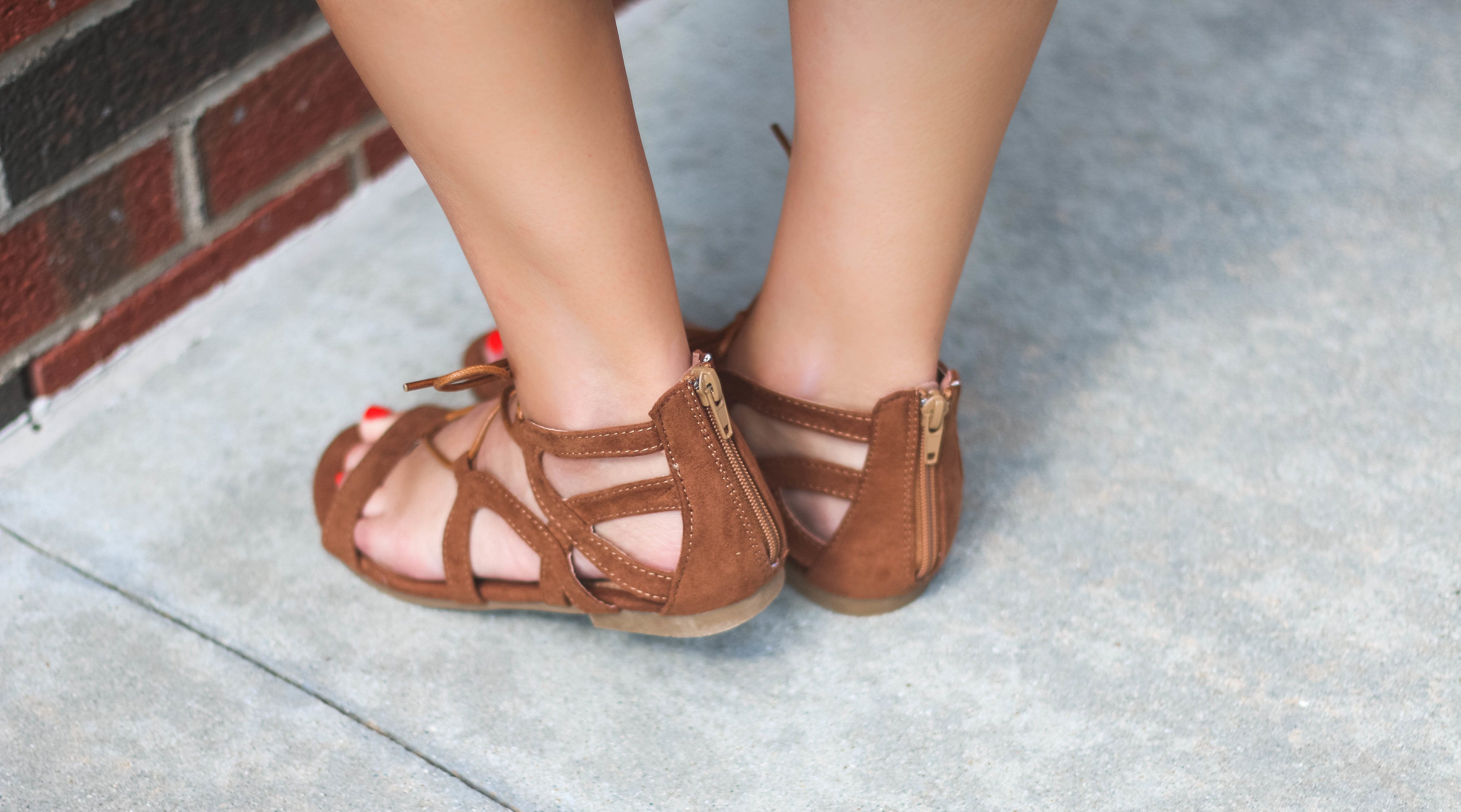 Cognac Lace Up Sandal