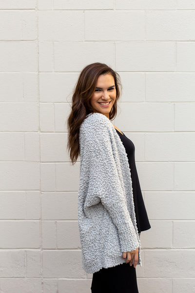 Light Grey Oversized Cardigan