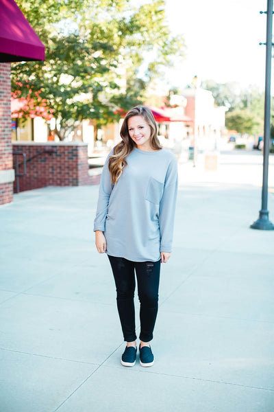 Grey Light Weight Sweatshirt