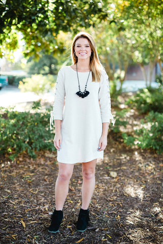 Taupe Sweatshirt Dress