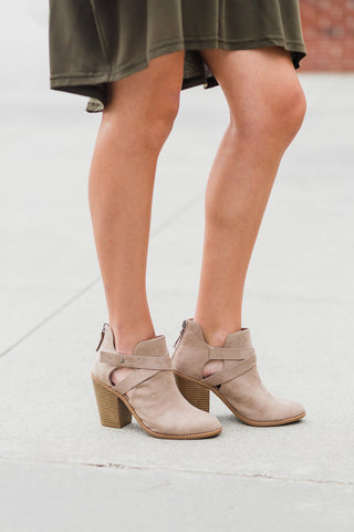 Vedette Taupe Booties