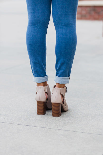 Taupe  Anette Heel Bootie