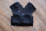 Black Padded Lace Bra Top