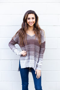 Brown Ombre Sweater