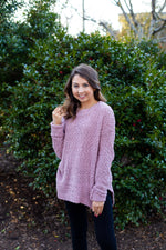 Mauve Popcorn Sweater