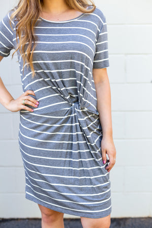 Grey Knot Dress