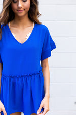 Royal Peplum Top