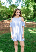 Powder Blue Stripe Dress