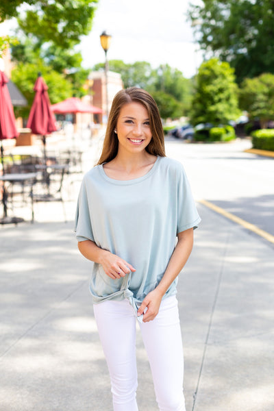 Mint Knot Top