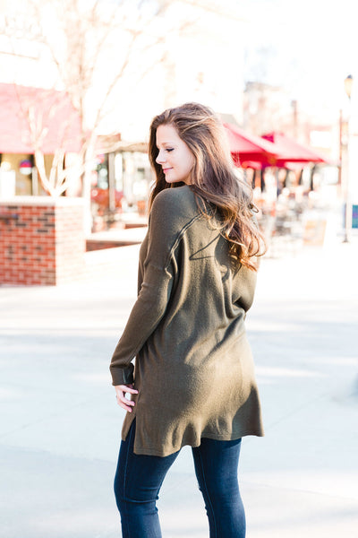 Olive Oversized Sweater