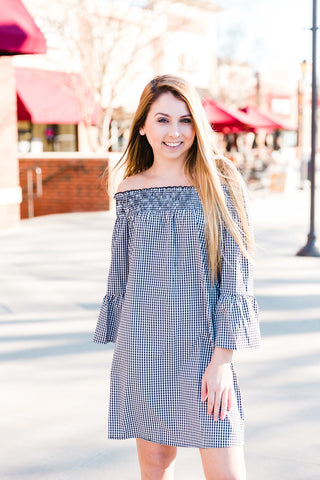 Black & White Gingham Dress