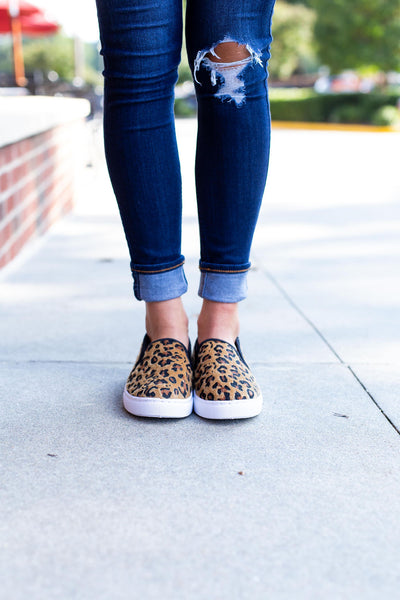 Cheetah Print Slip On Sneakers
