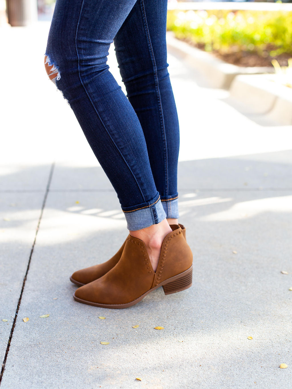 Mocha Ankle Booties