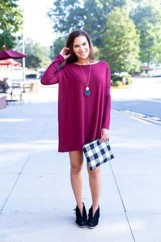 Plum Long Sleeve Piko Tunic