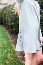 Ruffle Detail T-Shirt Dress