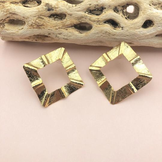 Gold Accordion Earrings