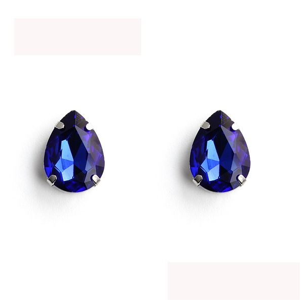 Jewel Teardrop Stud Earrings