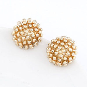 Gold Textured Stud Earrings