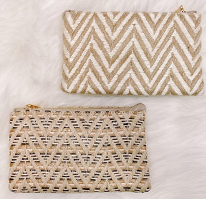 Chevron Straw Clutch