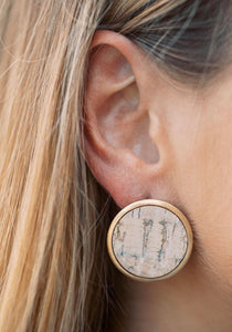 Cork Stud Earrings