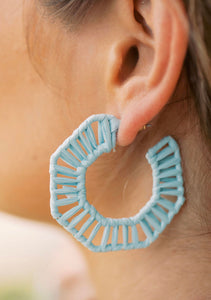 Light Blue Straw Hoops