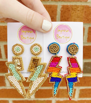 Beaded Lightning Earrings