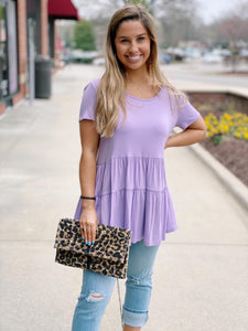 Lilac Tiered Tunic