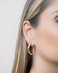 Mini Gold Octagon Hoops
