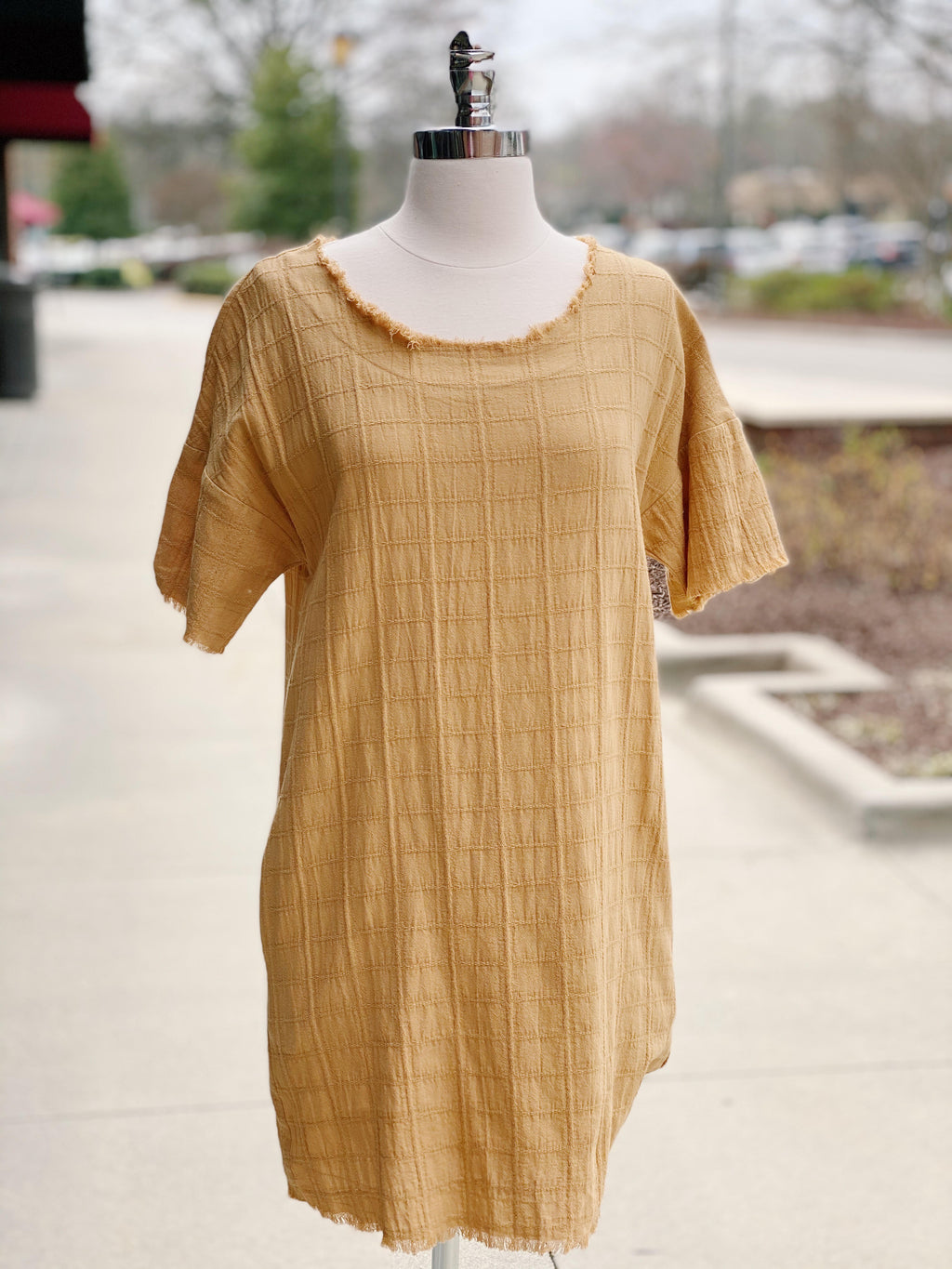 Mustard Distressed Dress