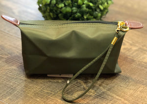 Olive Cosmetic Pouch