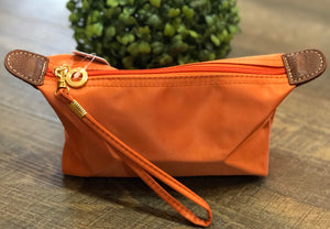 Orange Cosmetic Pouch
