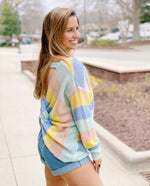 Pastel Striped Twist Sweater