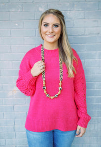 Hot Pink Chunky Sweater