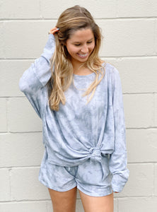 Grey Tie Dye Lightweight Sweatshirt