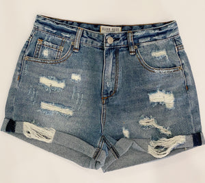 Denim Distressed Shorts