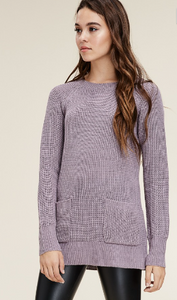 Dusty Lavender Knit Sweater
