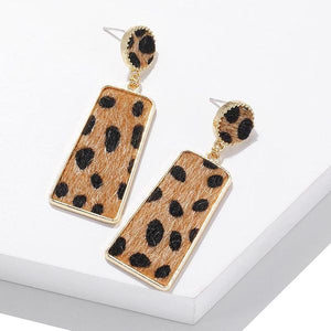 Animal Print Drop Earrings