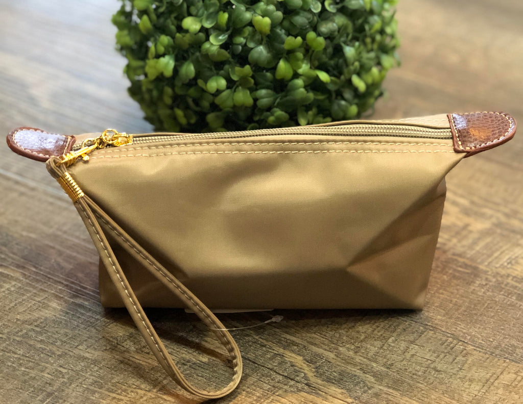 Taupe Cosmetic Pouch