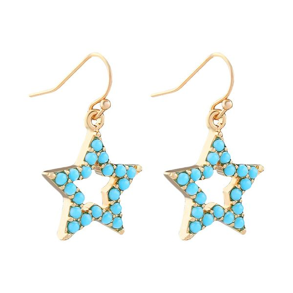 Turquoise Star Drop Earrings