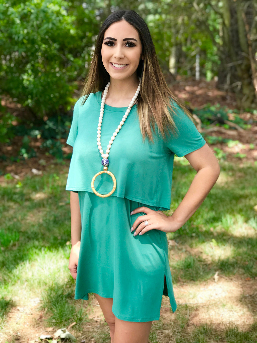 Green Layered Tunic