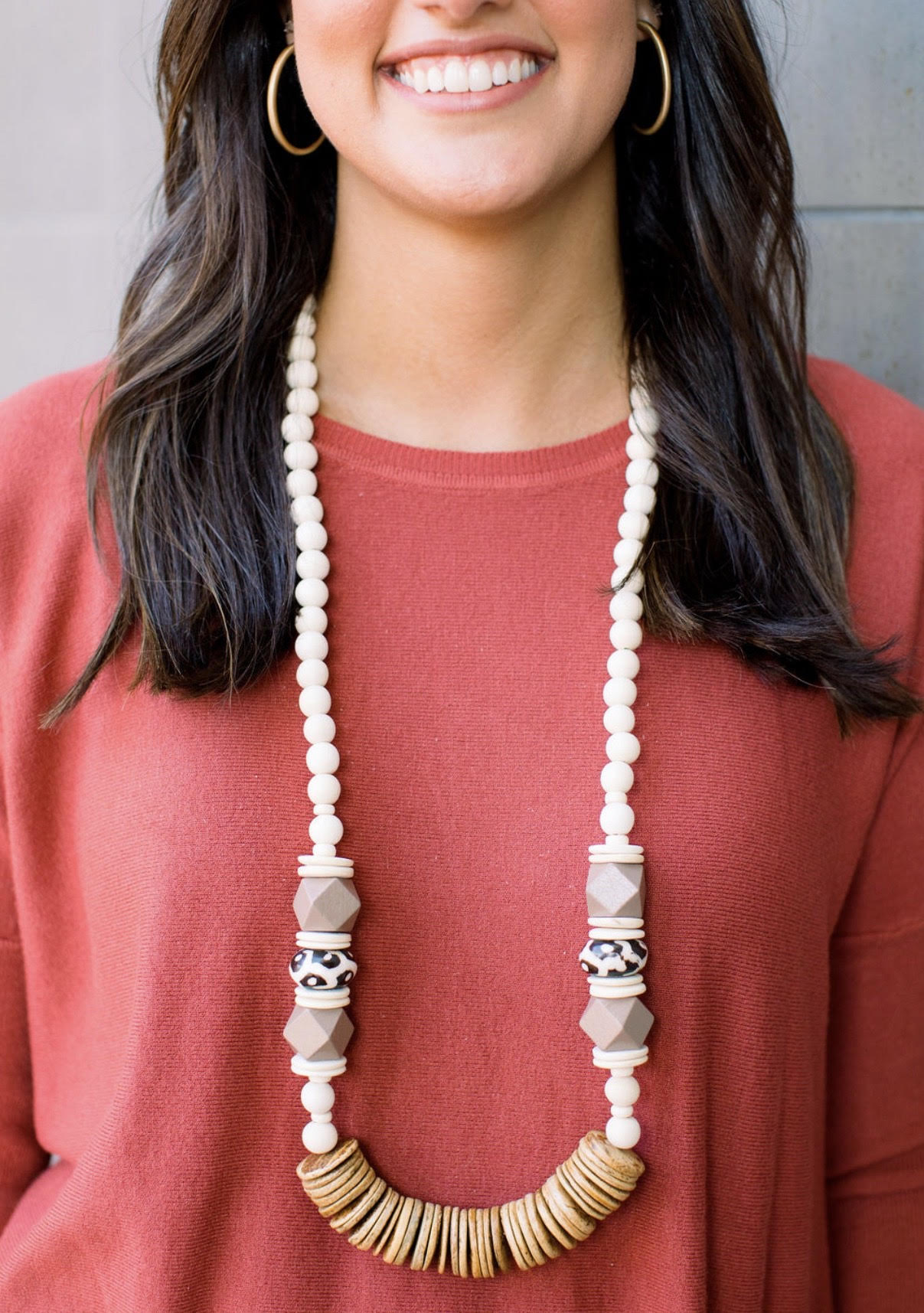 Carolina Strung Necklace - The Clara