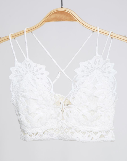 White Lace Criss Cross Bralette