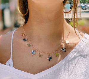White Tortoise Star Necklace
