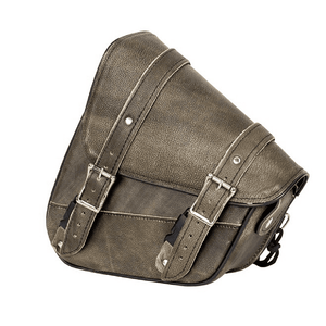 Genuine Distressed Brown Leather Left Side Solo Swing Arm Bag