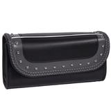 PVC Motorcycle Tool Bag With Gray Braids & Studs - Stofma  Hub