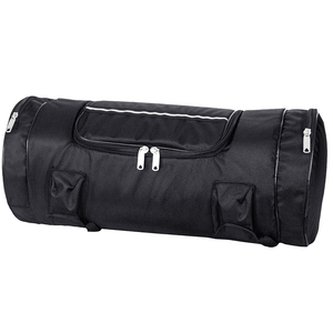 Black Triple Compartment Sissybar Bag - Stofma  Hub