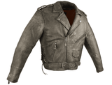 Men's Dark Brown Motorcycle Jacket with Gun Pockets - Stofma  Hub