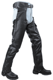 Plain Black Split Leather Chaps W/ Zipout liner - Stofma  Hub